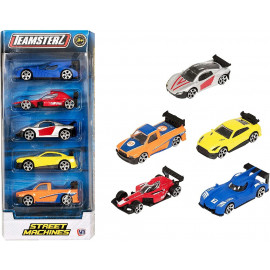 PACK 5 COCHES METAL 1:64