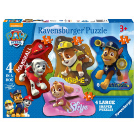 PUZZLE 4 SHAPED PAW PATROL
