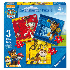 PUZZLE 3 IN A BOX PAW PATROL