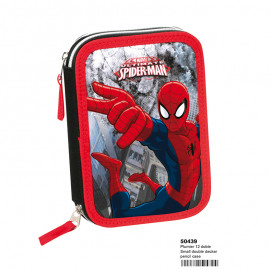 ESTUCHE LAPICES SPIDERMAN DOBLE