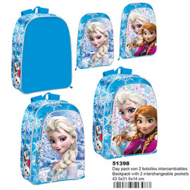Frozen, Day Pack Bolsillos Intercambiables