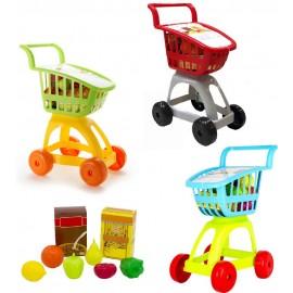 Carrito Supermercado + Alimentos, Colores Surtidos
