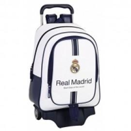 MOCHILA GRANDE C/RUEDAS REAL MADRID