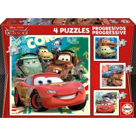 PUZZLE PROGRESIVOS CARS 2 12+16+20+25