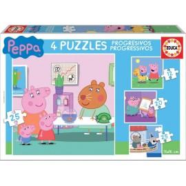 PEPPA PIG - PUZZLE PROGRESIVOS 12-16-20-25 PIEZAS