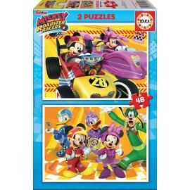 MICKEY Y LOS SUPERPILOTOS - PUZZLE 2X48 PZAS.