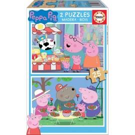 PEPPA PIG - PUZZLE 2X25 PIEZAS