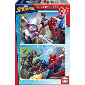 SPIDERMAN - PUZZLE 2X48 PIEZAS