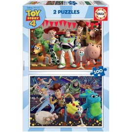 TOY STORY 4 - PUZZLE 2X100