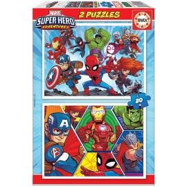 SUPER HEROE AVENTURAS  - PUZZLE 2X20 PIEZAS