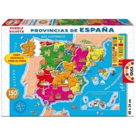 PUZZLE 150 PZAS. PROVINCIAS DE ESPAÑA