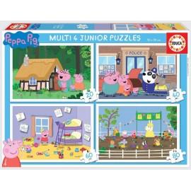 PEPPA PIG - MULTI 4 PUZZLES