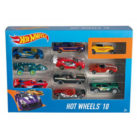 Pack de 10 vehiculos de Hot Whells, Surtidos