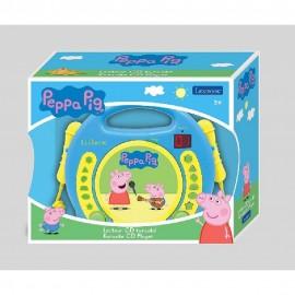 PEPPA PIG - LECTOR CD PORTATIL CON 2 MICROFONOS