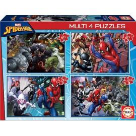 SPIDERMAN - MULTI 4 PUZZLES