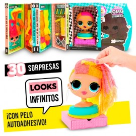 L.O.L. SURPRISE - OMG STYLING HEAD NEONLICIOUS