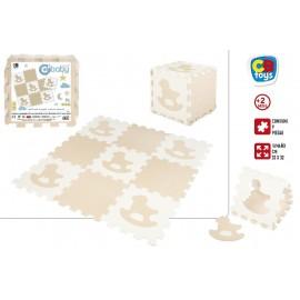 Pack 9 Piezas, Puzzle Eva 92x92 Cms. Caballitos