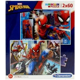 SPIDERMAN - PUZZLE 2X60 PIEZAS