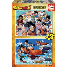 DRAGON BALL - PUZZLE 2X100 PIEZAS