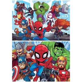 PUZZLE 2X25 SUPER HEROES...