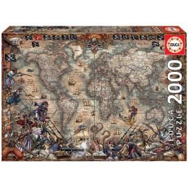 PUZZLE 2000 PIEZAS MAPA DE PIRATAS