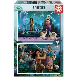 PUZZLE 2X100 RAYA & THE LAST DRAGON