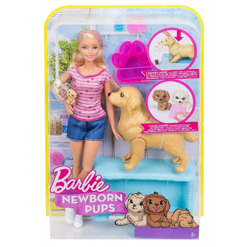 BARBIE Y PERRITOS SORPRESA