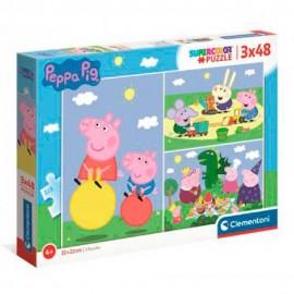 PEPPA PIG - PUZLLE 3X48 PIEZAS