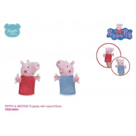 PEPPA PIG PUPPETS WITH SOUND 25 CMS.