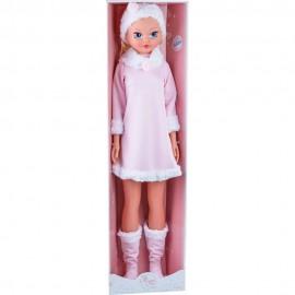 Muñeca Habladora de 100 cm con Vestido de Invierno