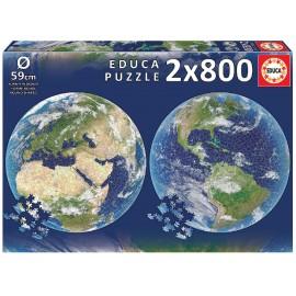 Puzzle 2 X 800 Piezas Planeta Tierra Round