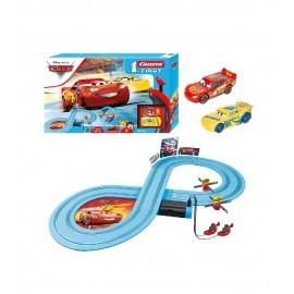 Pista de Cars de Disney Pixar Incluye a Rayo y a Cruz
