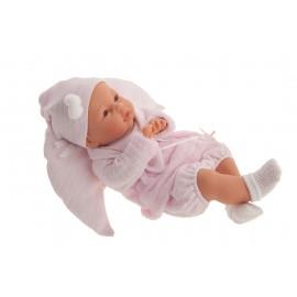 Muñeca Bimba llorona de 37 cms con cojin rosa