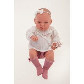Muñeca recien nacida Lea de 42 cms con cojin