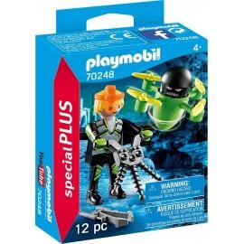 Agente con Dron de Playmobil