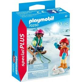 Muñecos con Trineo de Playmobil
