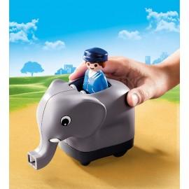 1 2 3 Mi Tren de Animales de Playmobil