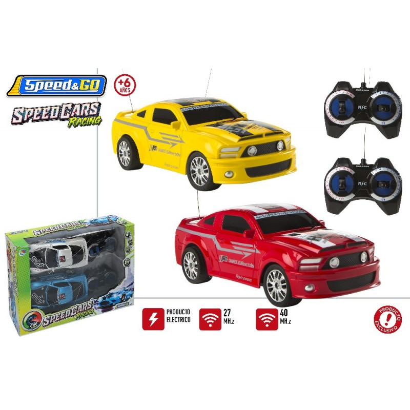 SET 2 COCHES R/C. TOP RACER RACING 2 S. PILAS