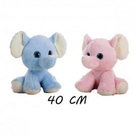 Muñeco de peluche Elefante Bimba en Azul y Rosa de 40 cms