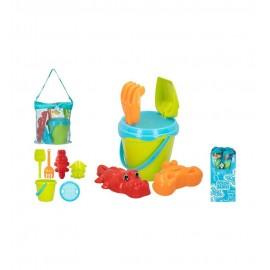 Set de Playa con Cubo+ Palas+ 2 Moldes y bolsa