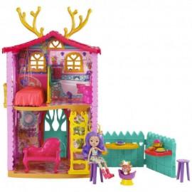 Muñeca Enchantimals, Danessa Deer con Casa Ciervo