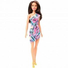 Muñeca Barbie, con Vestido Morado