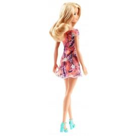 Muñeca Barbie, Traje Naranja con Flores Tropicales