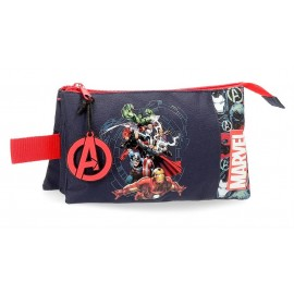 Avengers Team, Estuche  3 compartimentos, 12 Cms.