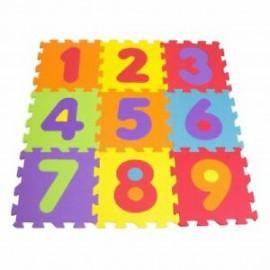 Puzzle Goma Eva de 9 Piezas, Los Números