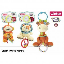 Sonajeros Jirafa/Chimpance/león, Surtidos de Peluche