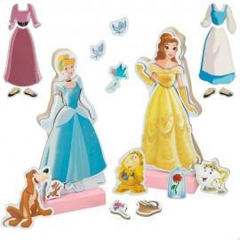 Princesas Disney, Juego Vestidos Magneticos de Madera