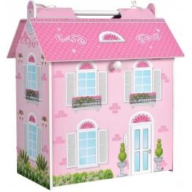 Casa de Muñecas de Madera de 34x22x40 cms.