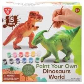 Juego Pinta tu Dinosaurio