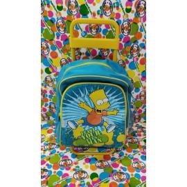 Mochila carro infantil de los Simpsons de 42 cm